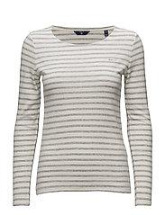 Gant - O1. Striped 1x1 Rib Ls T-Shirt