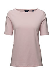 O1. COTT/ELA BOATNECK TOP - SHADOW ROSE
