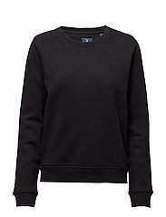 O1. TONAL SHIELD C-NECK SWEAT - BLACK