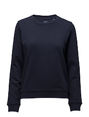 O1. TONAL SHIELD C-NECK SWEAT - EVENING BLUE