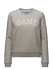 O1. ARCH LOGO SWEAT - LIGHT GREY MELANGE