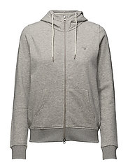 O1. TONAL SHIELD FULL ZIP HOODIE - LIGHT GREY MELANGE