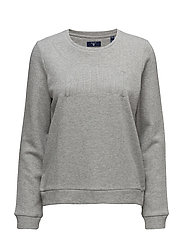 O2. GANT LUREX C-NECK SWEAT - SILVER