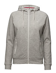 OP2. GANT RISING STAR FULL ZIP HOOD - LIGHT GREY MELANGE