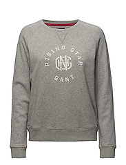 OP2.GANT RISING STAR C-NECK SWEAT - LIGHT GREY MELANGE