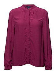 O2. CREPE BLOUSE - RASPBERRY PURPLE