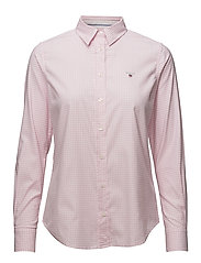 STRETCH OXFORD GINGHAM SHIRT - LIGHT PINK