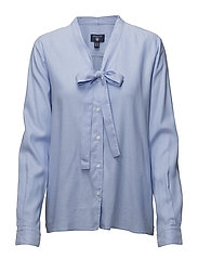 O1. TP OXFORD BOW BLOUSE - CAPRI BLUE