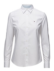 STRETCH OXFORD SOLID - WHITE