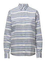 O2.TP AWNING STRIPED SHIRT - NAUTICAL BLUE