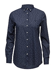 O. DOT PRINTED SHIRT - EVENING BLUE