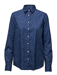 O.CAMO STRIPED JACQUARD SHIRT - HURRICANE BLUE