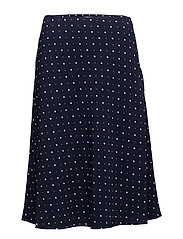 OP2. A-LINE PRINTED SKIRT - EVENING BLUE