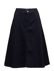 01. A-LINE MIDI SKIRT - EVENING BLUE