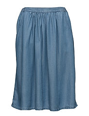 O2. CHAMBARY SKIRT - SEMI LIGHT BLUE