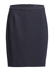 WOOL STRETCH SKIRT - EVENING BLUE