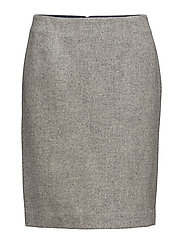 C. HERRINGBONE PENCIL SKIRT - DARK GREY MELANGE