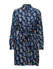 SPORT BLOOM SHIRT DRESS - MARINE