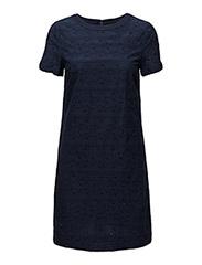 O2. BROIDERIE ANGLAISE DRESS - MARINE