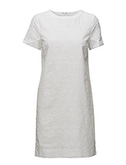 O2. BROIDERIE ANGLAISE DRESS - WHITE