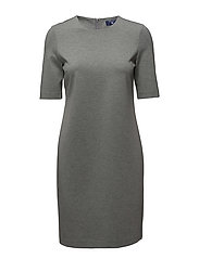 O. JERSEY DRESS - LIGHT GREY MELANGE