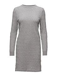 OP1. MINI CABLE DRESS - LIGHT GREY MELANGE
