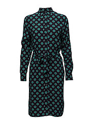 OP2. MISTY DOT SHIRT DRESS - EVENING BLUE