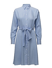 O1. TP OXFORD SHIRT DRESS - CAPRI BLUE