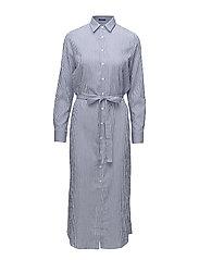 OP2. TP SEERSUCKER SHIRT DRESS - COLLEGE BLUE