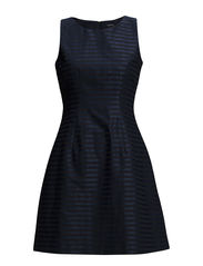 L. TONAL STRIPE DRESS - CLASSIC BLUE