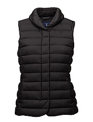 LIGHT WEIGHT DOWN VEST - BLACK