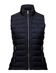 O1. LIGHT WEIGHT DOWN VEST - EVENING BLUE