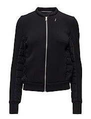 O. SOFT QUILTED JACKET - BLACK