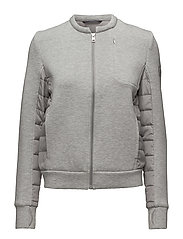 O. SOFT QUILTED JACKET - LIGHT GREY MELANGE