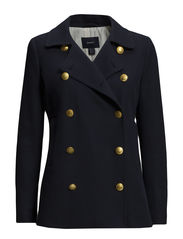 L. SPRING PEA COAT - EVENING BLUE