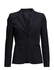 SATIN STRETCH BLAZER - NAVY