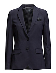 WOOL STRETCH BLAZER - EVENING BLUE