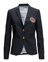 CLASSIC CLUB BLAZER W. BADGE - EVENING BLUE