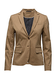 O1. SATIN STRETCH BLAZER - WARM KHAKI