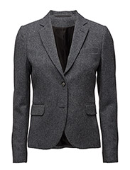 O1. TWILL WOOL BLAZER - DARK ANTRACIT MELANGE