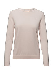 LT WEIGHT COTTON CREW NECK - BARLEY PINK