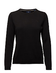 LT WEIGHT COTTON CREW NECK - BLACK