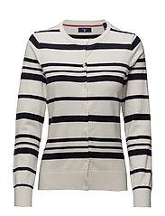 Gant - O1. Breton Stripe Cardigan