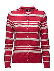O1. BRETON STRIPE CARDIGAN - ROSE RED