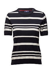 O1. BRETON STRIPE TOP - EVENING BLUE