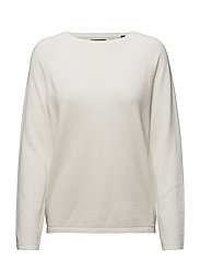 O1. RELAXED CASHMERE BLEND JUMPER - EGGSHELL