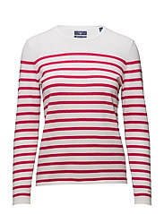 BRETON STRIPE CREW - ROSE RED