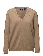 SUPER FINE LAMBSWOOL CARDIGAN - DARK KHAKI