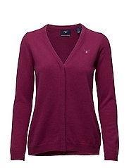 SUPER FINE LAMBSWOOL CARDIGAN - RASPBERRY PURPLE