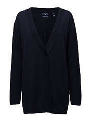 OP1. FINE MERINO WOOL CARDIGAN - EVENING BLUE